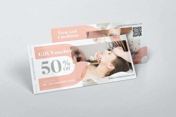 Thumbnail for Female Beauty Spa AI and PSD Gift Voucher
