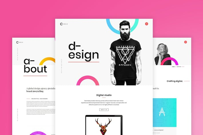 Thumbnail for Circle - Creative Portfolio WordPress Theme