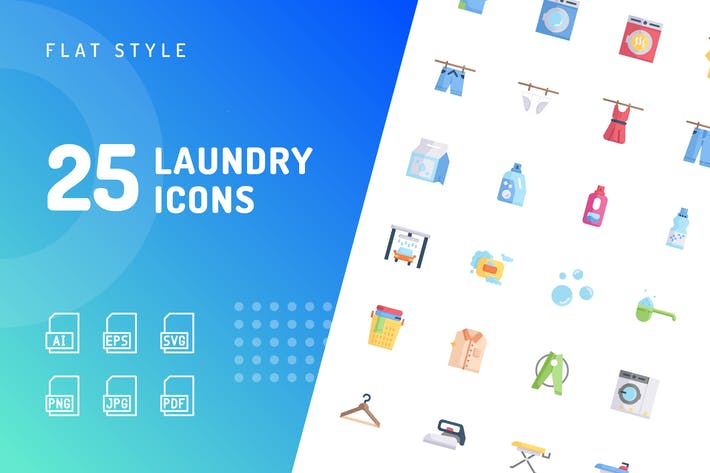 Thumbnail for Laundry Flat Icons
