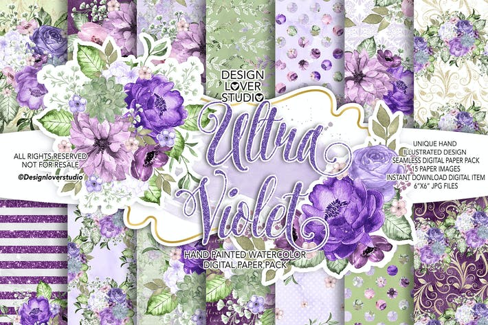 Cover Image For Ultra Violet digital paper pack