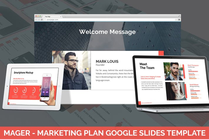Thumbnail for Mager - Marketing Plan Google Slides Template