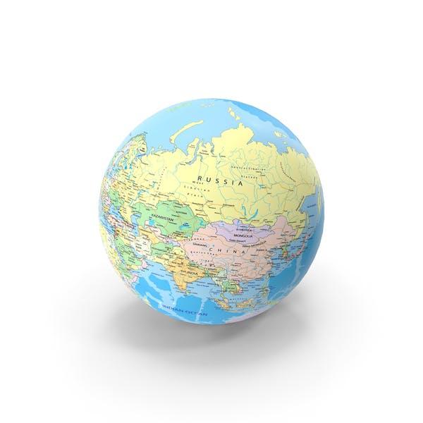 Geopolitischer Globus