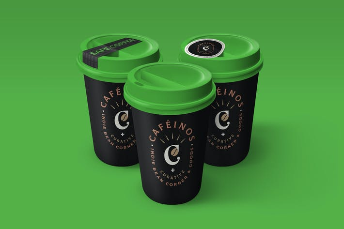 Thumbnail for Coffee Cup Mockup with Safety Seal Sticker