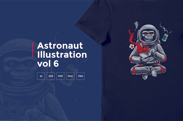 Thumbnail for Astronaut Tshirt Graphic vol 6