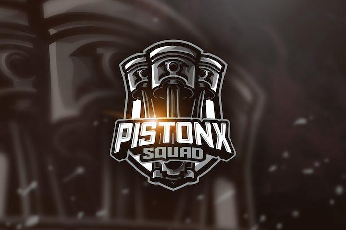 Thumbnail for Piston Squad - Mascot & Esport Logo