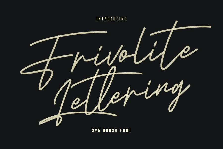 Frivolite SVG - Pincel de letras, hecho a mano, tipo de letra
