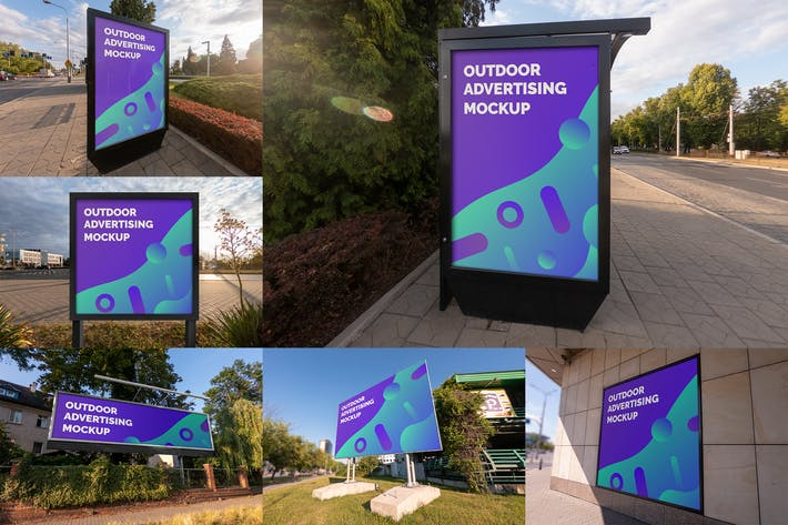 Thumbnail for Outdoor Advertising Mockups vol.2