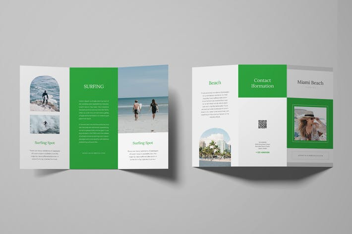 Thumbnail for Surfing Trifold Brochure