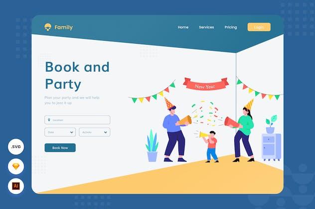 Family Events - Website Header - Illustration
