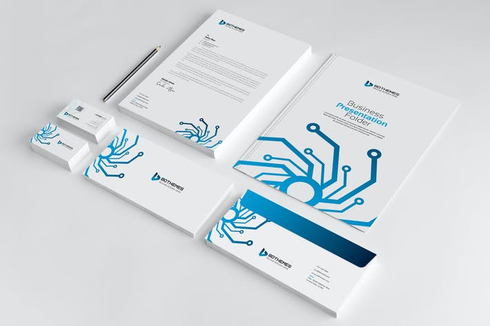Thumbnail for Business Stationery Template 25
