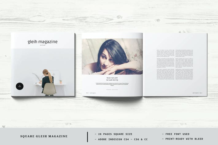 Square Gleih Magazine Template