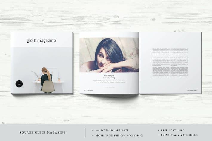 Thumbnail for Square Gleih Magazine Template