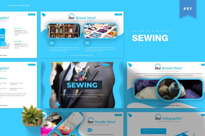 Thumbnail for Sewing | Keynote Template