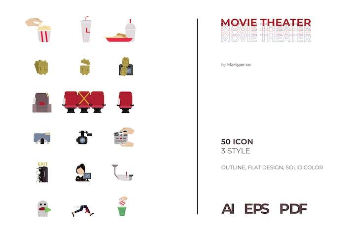 Solides Icon-Paket für Kino
