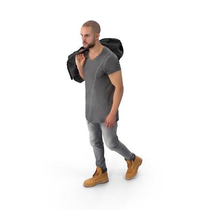 Walking Man Posed