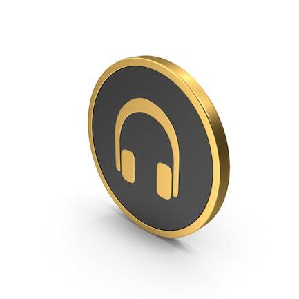 Gold Icon Headphones