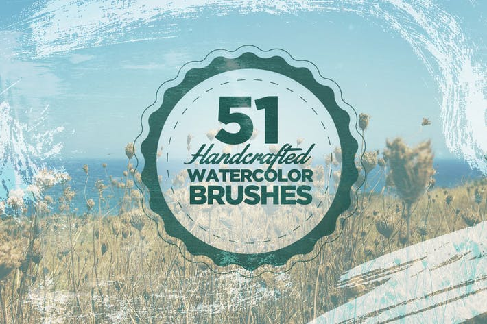 Thumbnail for 51 Handcrafted Watercolor Brushes