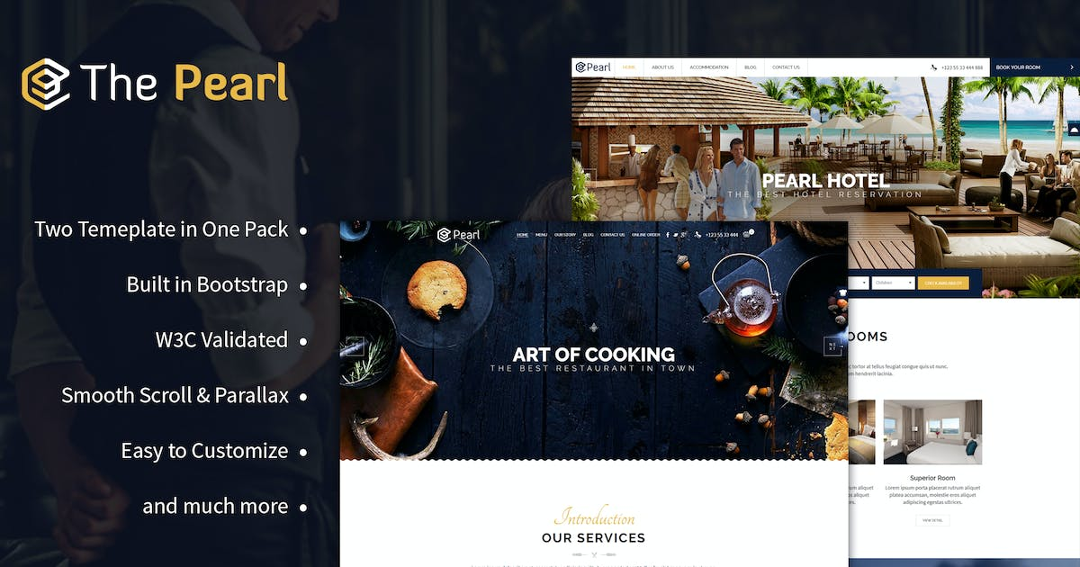 Download Pearl - Hotel & Restaurant Template by BrighThemes