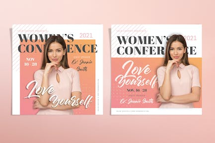 Women Conference Template Set