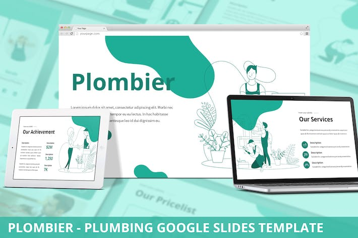 Thumbnail for Plombier - Plumbing Google Slides Template