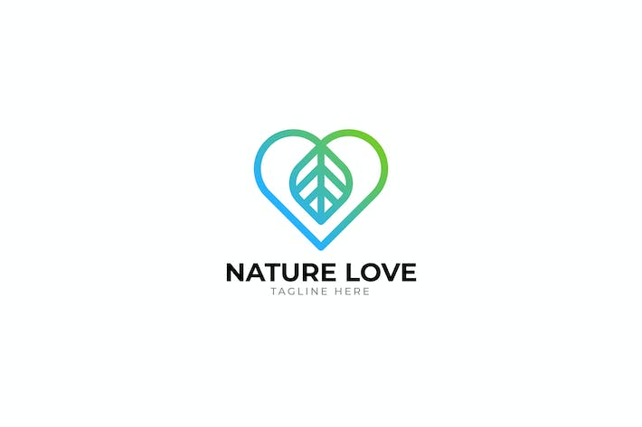 Thumbnail for Nature Love Logo template