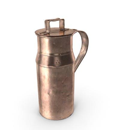 Antique Copper Milk Can 19th Century