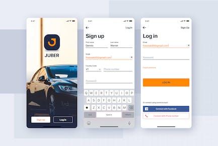 Authentication Form UI Mobile Template