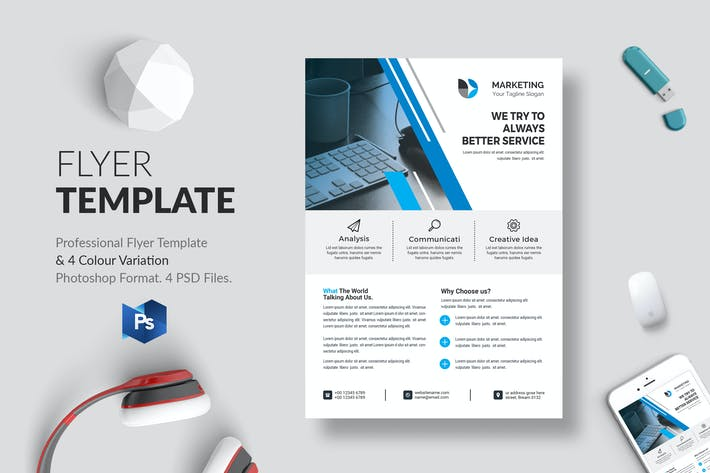 Thumbnail for Business Flyer Template 24