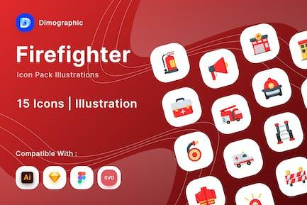 Feuerwehr-Icon-Paket
