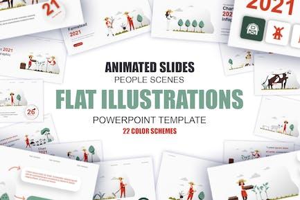 Farming Illustration Powerpoint Template