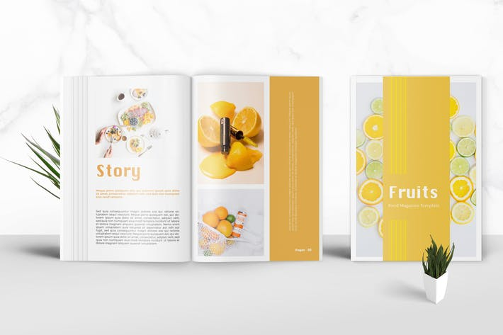 Thumbnail for Fruits - Food Magazine Template