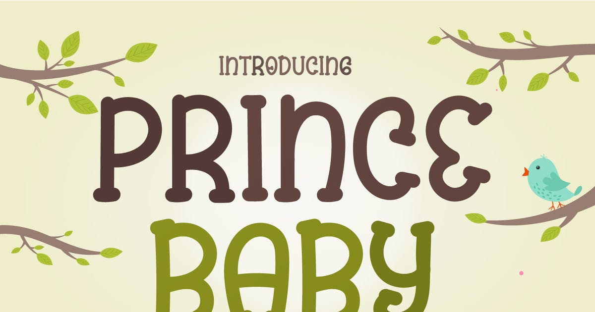 Download Prince Baby - Cute Display Font by Creavora
