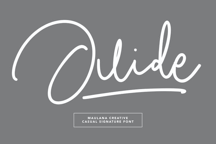 Thumbnail for Juide Casual Signature Font