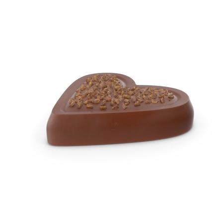 Heart Chocolate Candy with Nuts