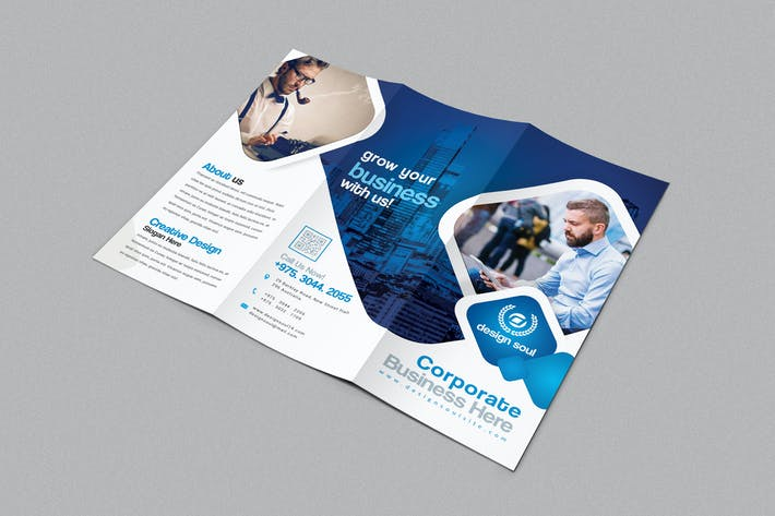 Thumbnail for Blue Trifold Brochure