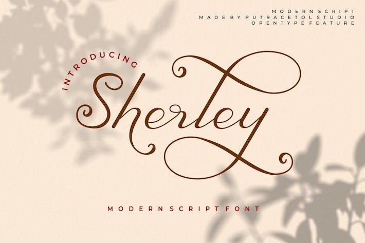 Thumbnail for Sherley - Elegant Lovely Script Font