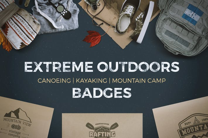 Thumbnail for 9 Extreme Outdoor Badges and Vintage Labels