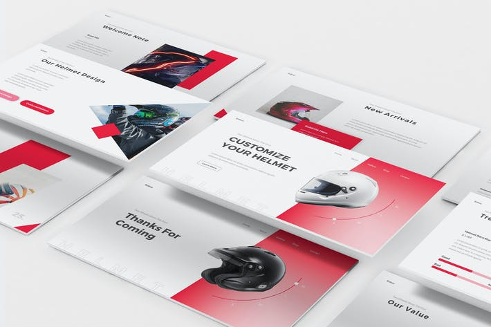 Helmet Shop Keynote Template