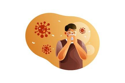 Men use masks to protect against coronavirus