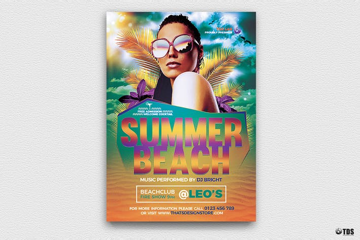 Thumbnail for Summer Beach Flyer Template V1