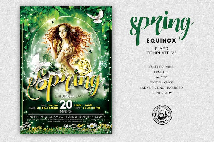 Cover Image For Spring Equinox Flyer Template V2