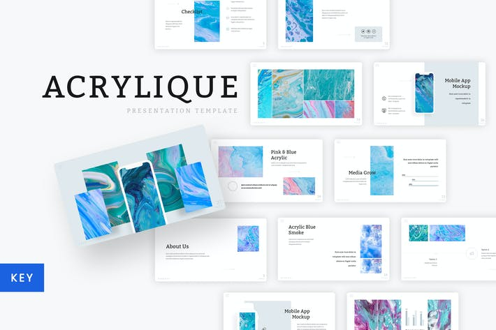 Thumbnail for Acrylique - Keynote Template