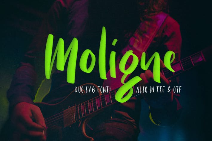 Thumbnail for Moligne - SVG Font Duo