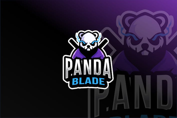Thumbnail for Panda Blade Esport Logo Template