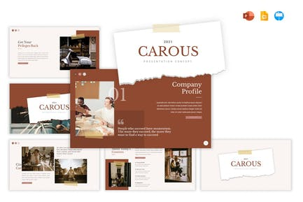 Carous - GSLIDE KEY PPTX VORLAGE