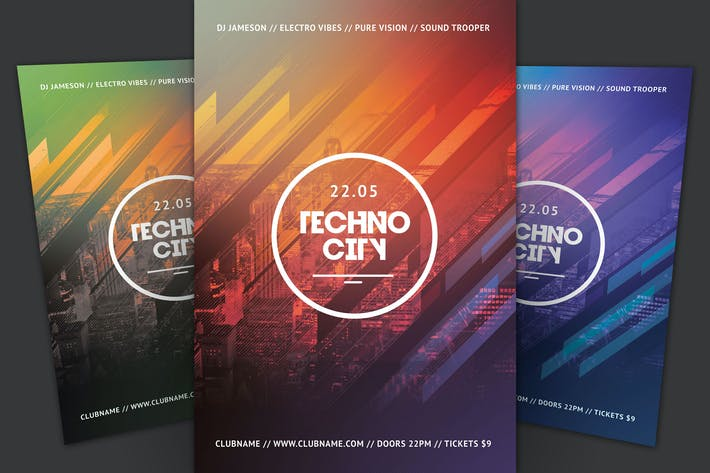 Thumbnail for Techno City Flyer