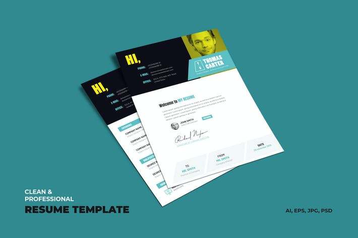 Cover Image For Creative Resume, vCard, CV & Portfolio Template