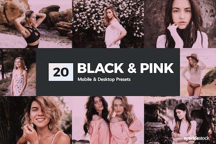20 Black & Pink Lightroom Presets and LUTs