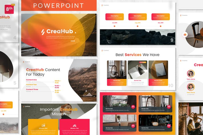 Thumbnail for CreaHub - Business Powerpoint Template
