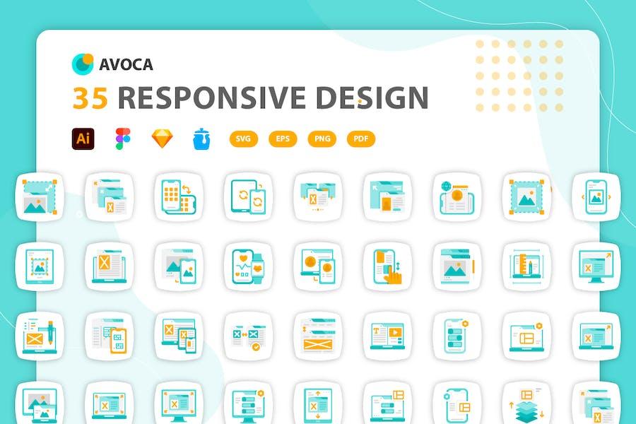Avoca - Responsive Design Icons